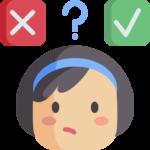 En bild på en kvinna och ett frågetecken. Illustrerar frågorna angående E-legitimation och casino.