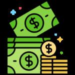 casino med låg insättning illusteras med en bild av pengar