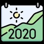 Bild på en kalender som visar 2020.