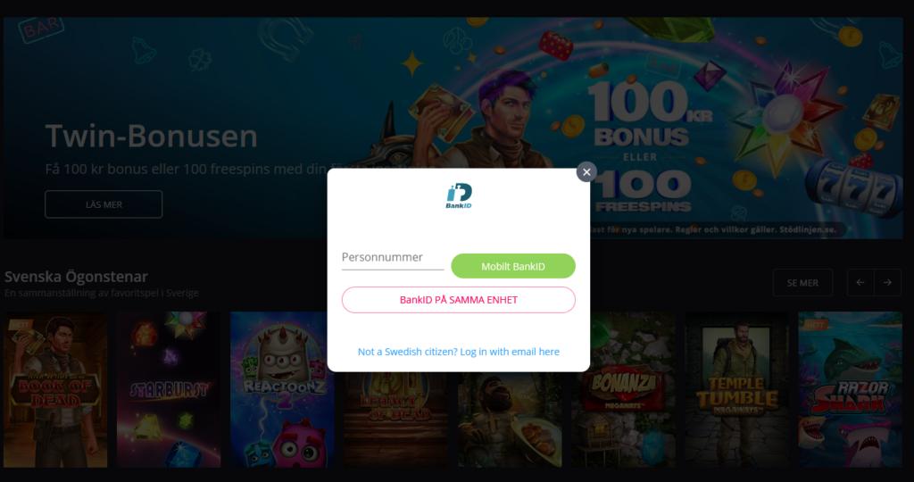 bild på hur man öppnar ett konto hos spelbolaget.